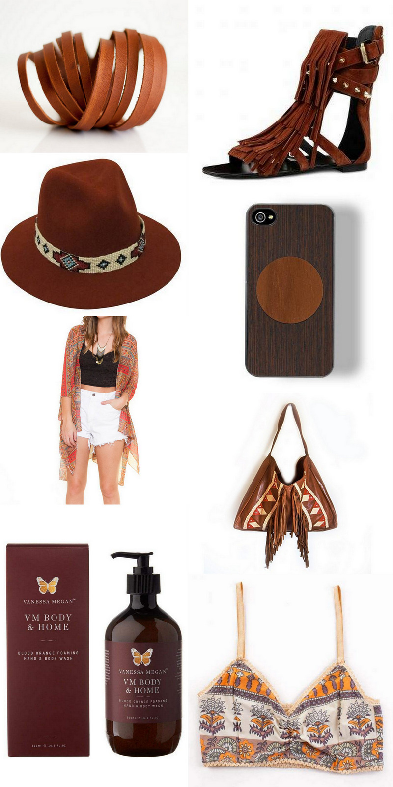 Boho accessories via Roots & Feathers