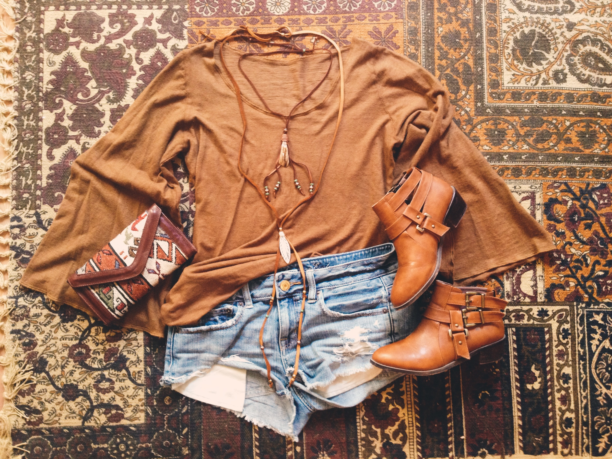 Beautiful shirt from  Gaia Conceptions  // boots from  Chicwish  // necklaces from  Roots and Feathers
