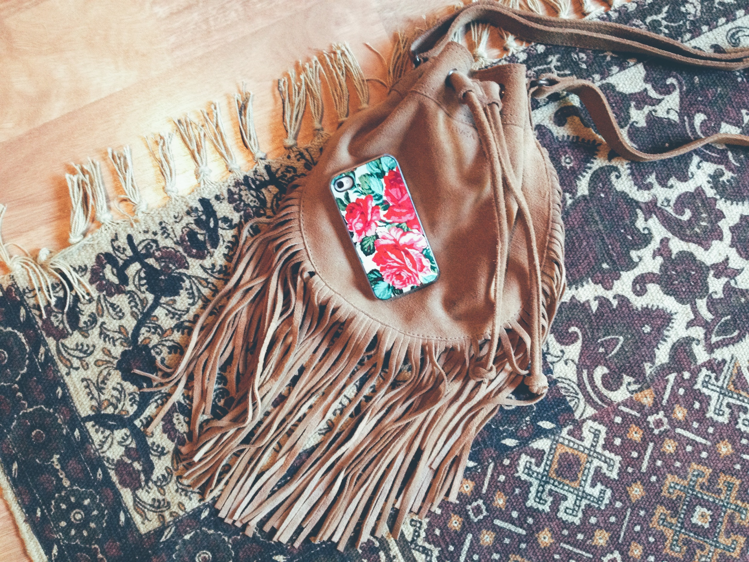 fringe purse + iphone case