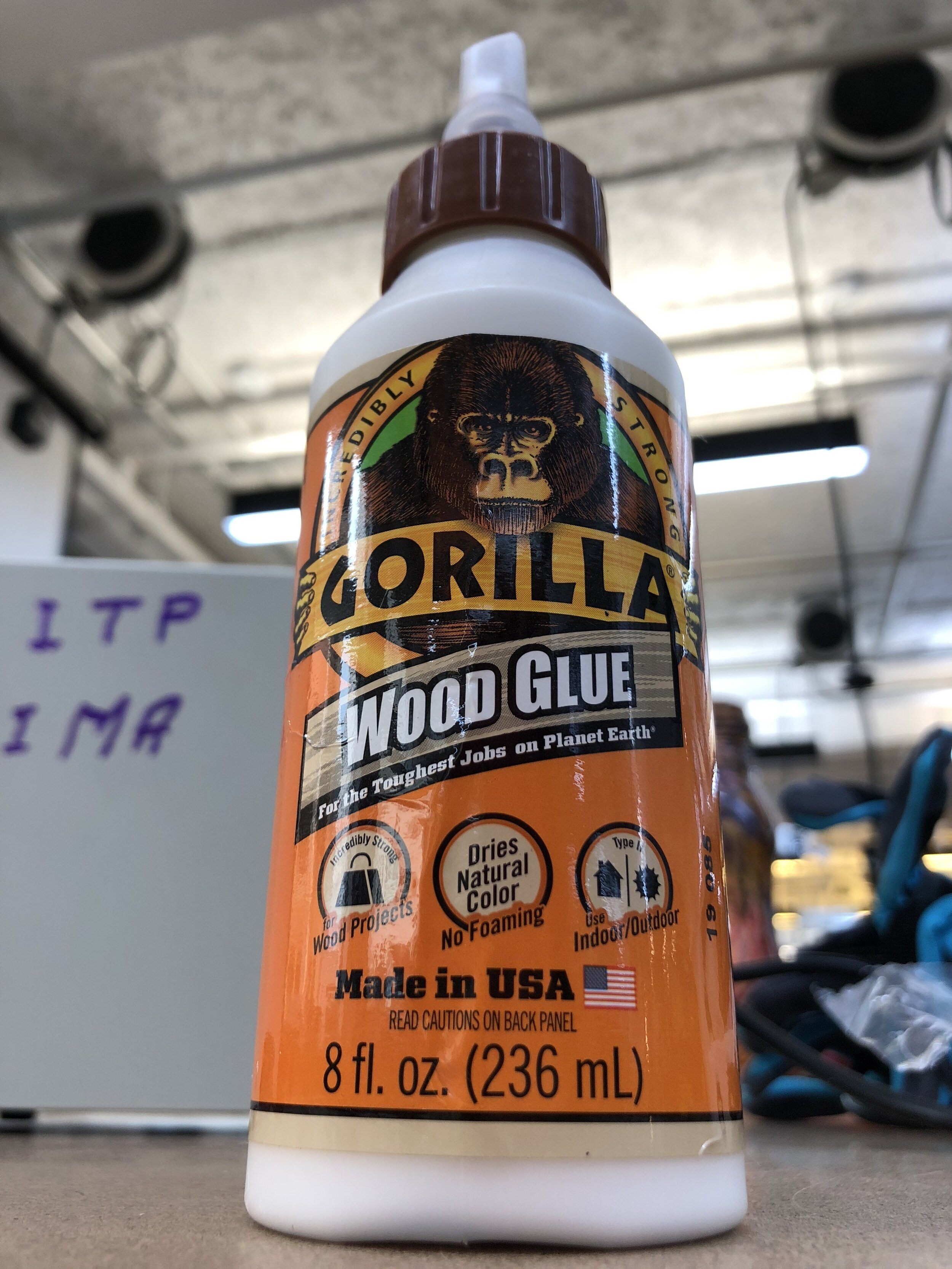 gorilla wood glue - used for a 24 hr cure