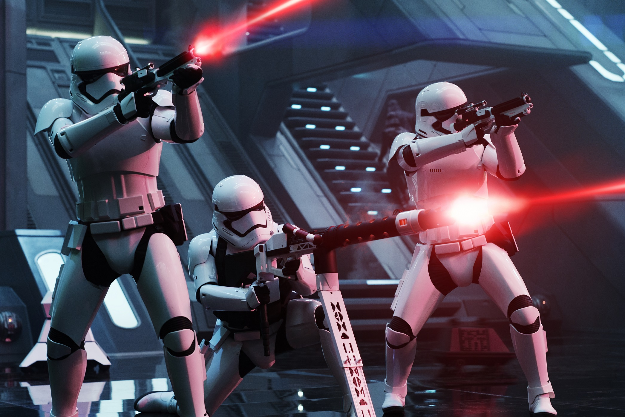 Star Wars: The Force Awakens..First Order Troopers..Ph: David James..© 2015 Lucasfilm Ltd. & TM. All Right Reserved..