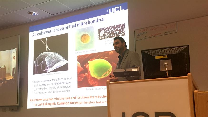 Dr. Nick Lane discussing 'The Origins of Life on Planet Earth' at The ICR, London