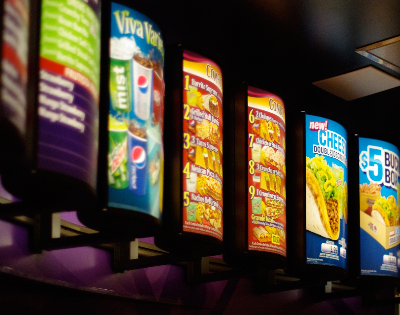 taco bell - aurora mall - menu boards