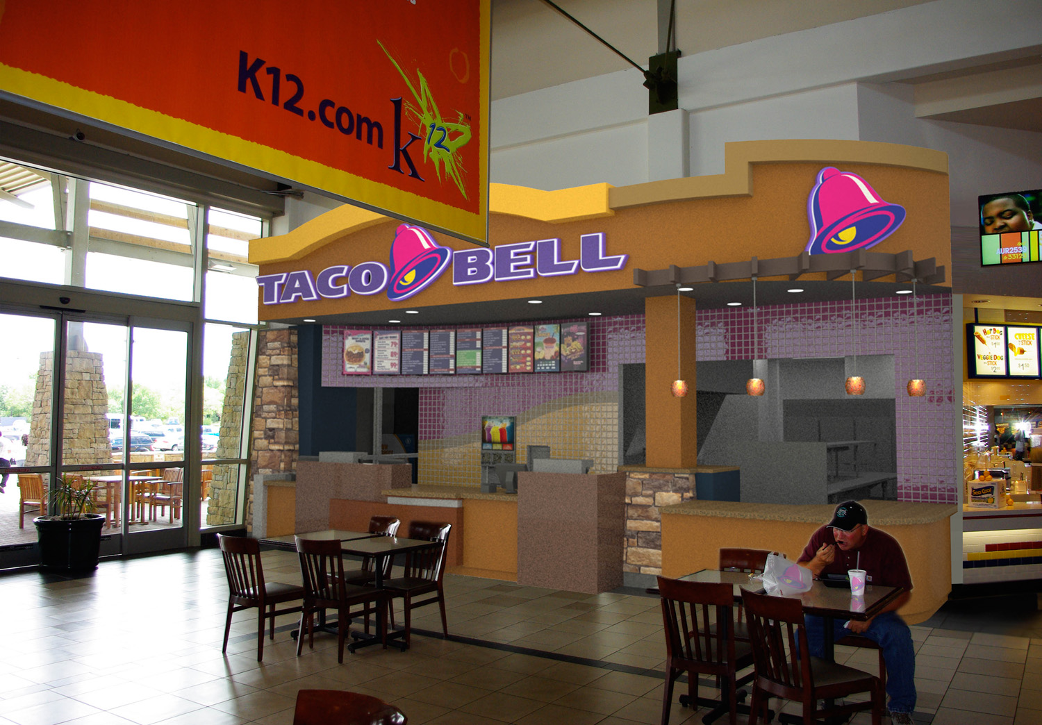 taco bell - aurora mall - concept rendering