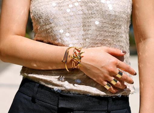 Maison Martin Margiela rings,  Svelte Metals ,  Anarchy Street bracelets