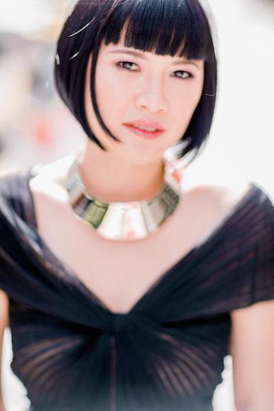 Dress by Tadashi Shoji, Giambattista Valli necklace