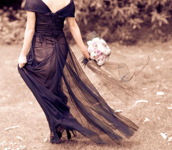 Dress by Tadashi Shoji, Shoes by Manolo Blahnik
