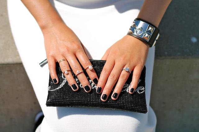 Rue Gembon and my own rings, Felix Rey bag, Hermes bracelet