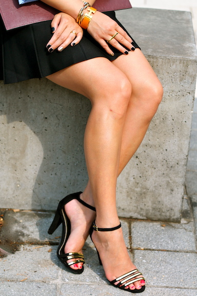 Audrey Brooke shoes c/o DSW, Hermes and Vita Fede bracelets, Michele watch, Cartier and Erica Anenberg rings