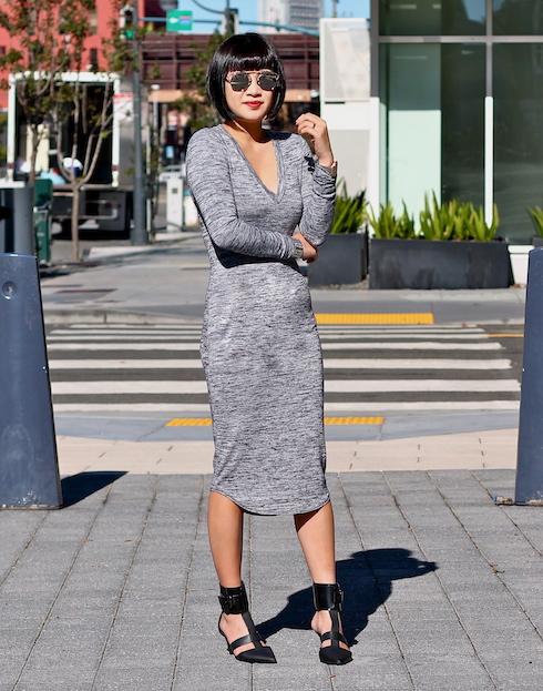 Wilfred Free Dress ,  Dior sunglasses , Tibi shoes