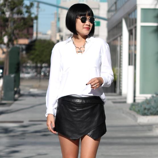 Talula shirt  and  skort ,  Rodarte necklace ,  Dior sunglasses