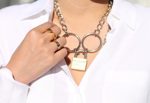 Vita Fede  and Cartier rings,  Rodarte necklace