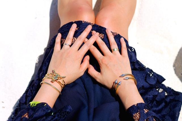 Svelte Metals , YSL, and  Vita Fede bracelets , my own rings