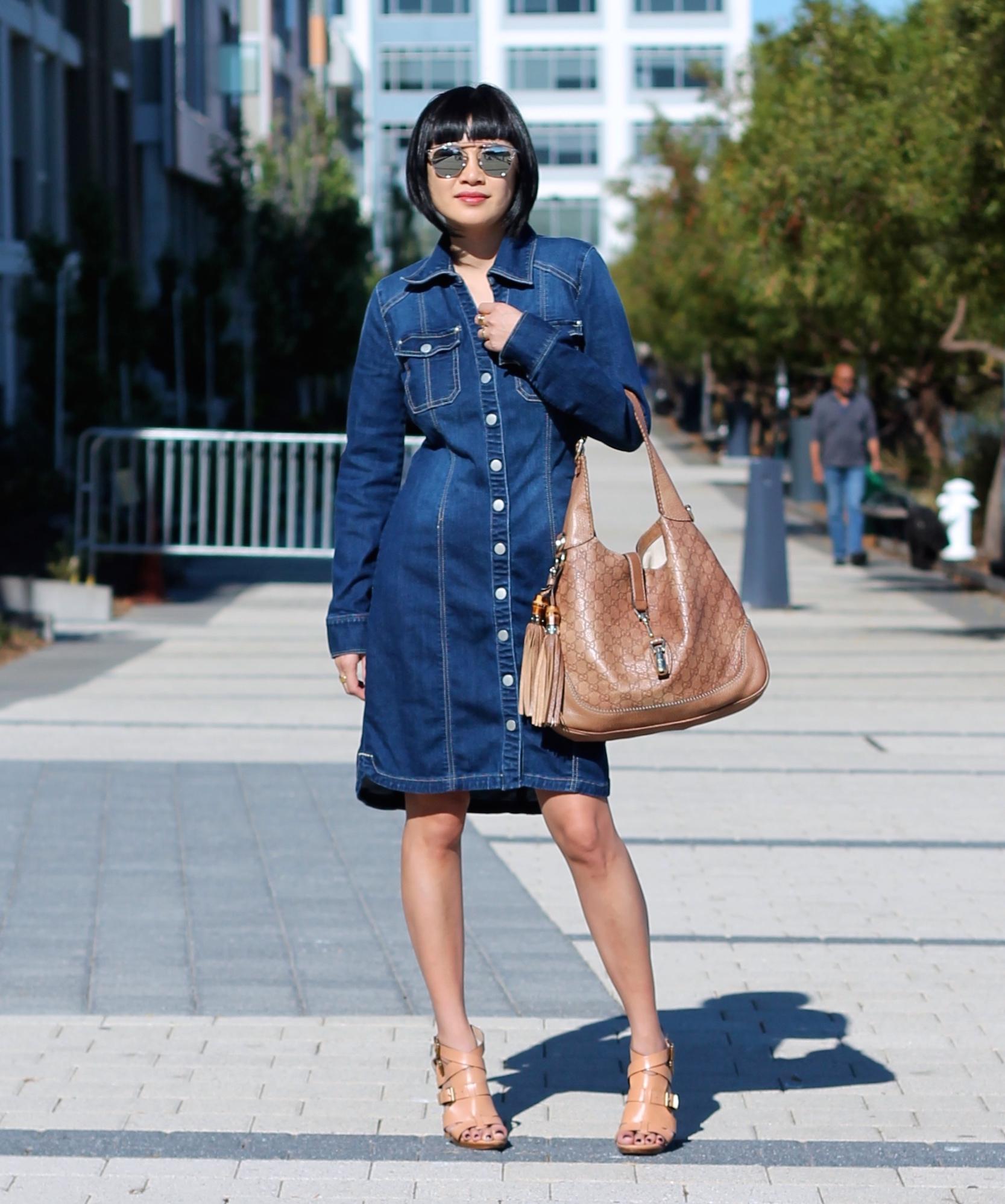 INC dress , Dior sunglasses, Gucci bag, Pour La Victoria shoes