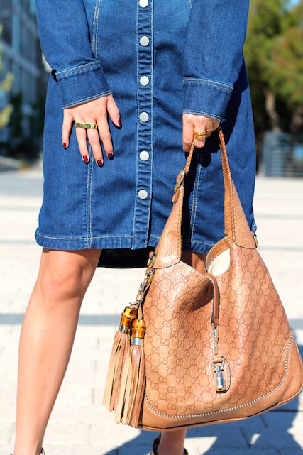 Gucci bag, Erica Annenberg, Svelte Metals and Cartier rings