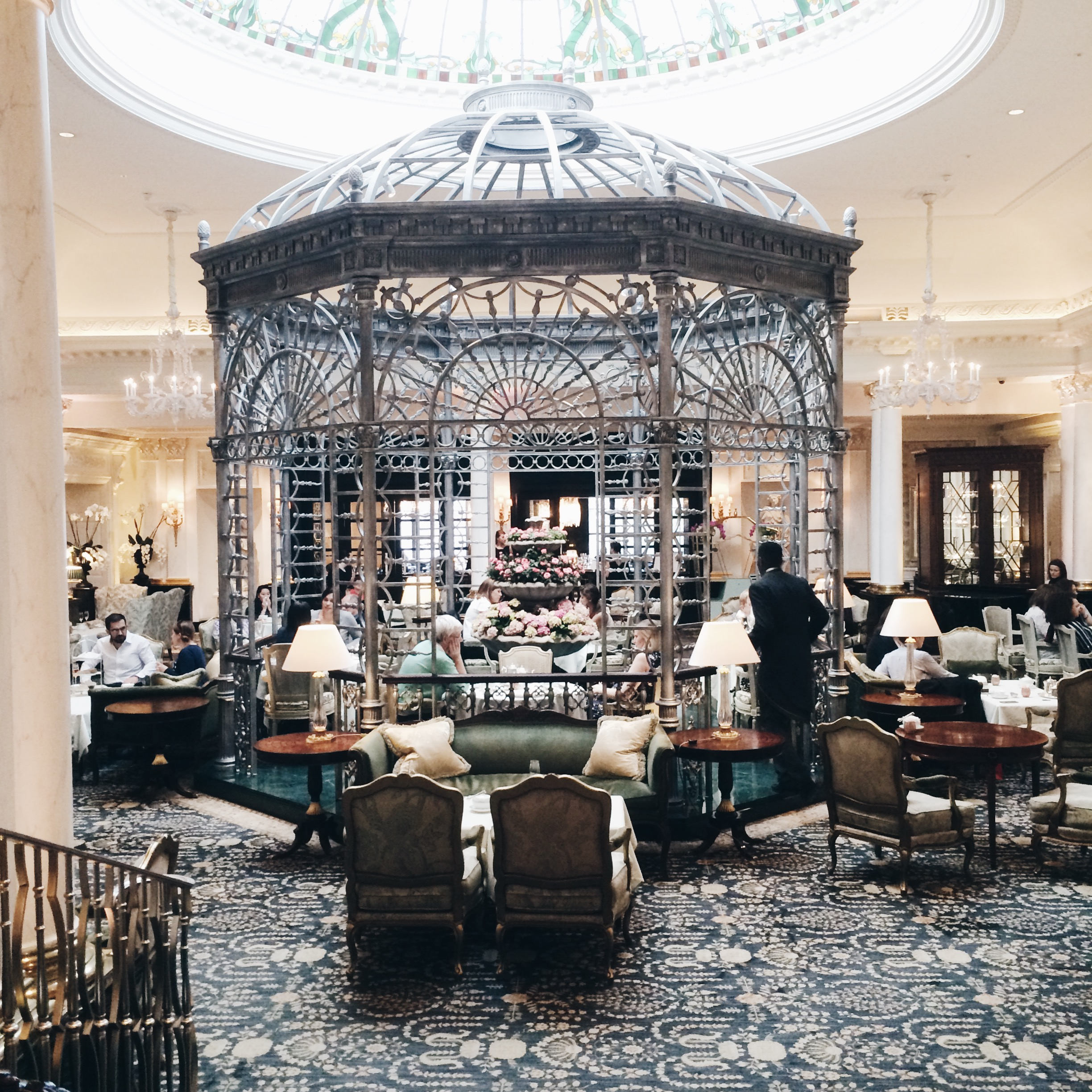 The infamous Savoy Foyer for tea