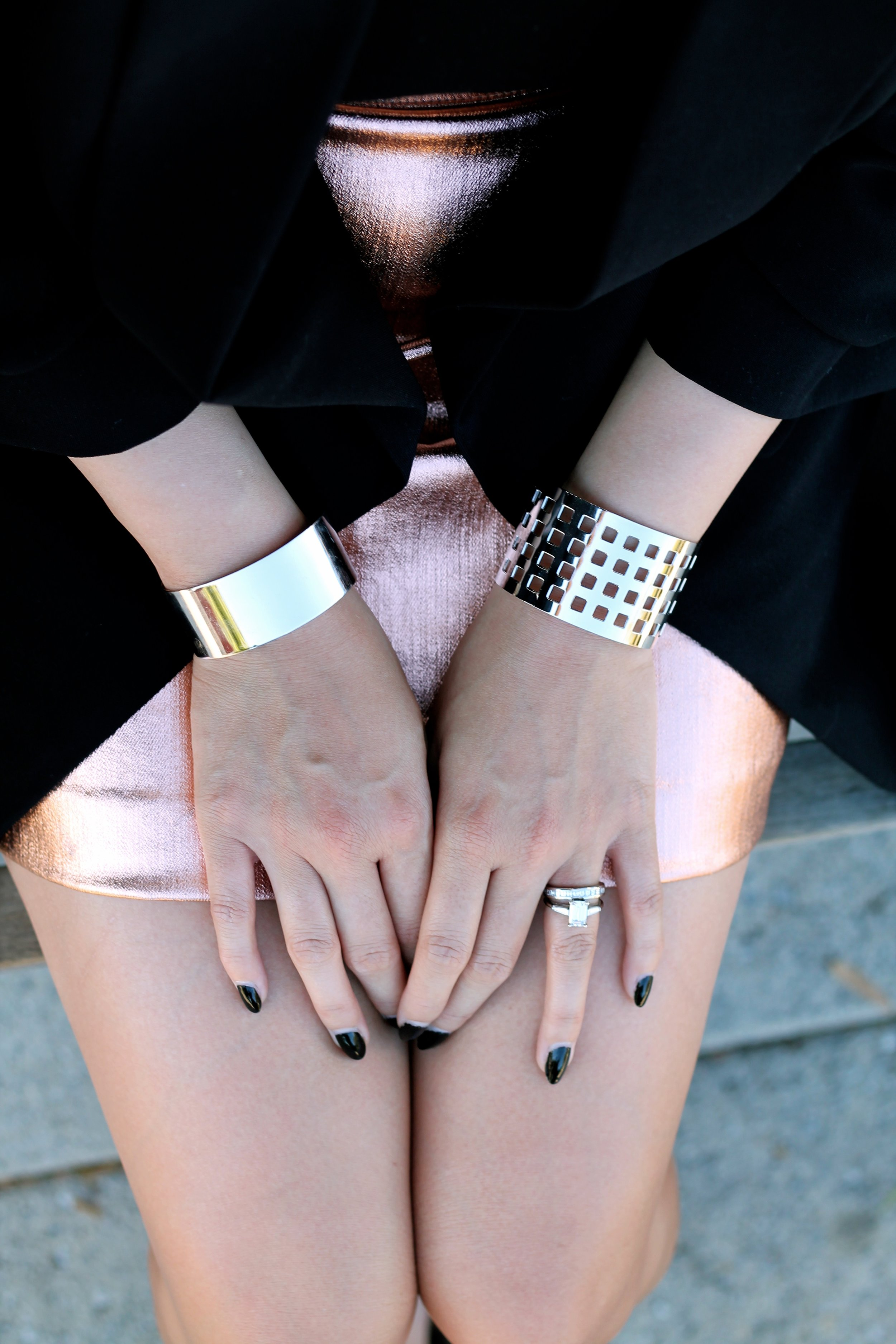 Svelte Metals cuffs and my own rings