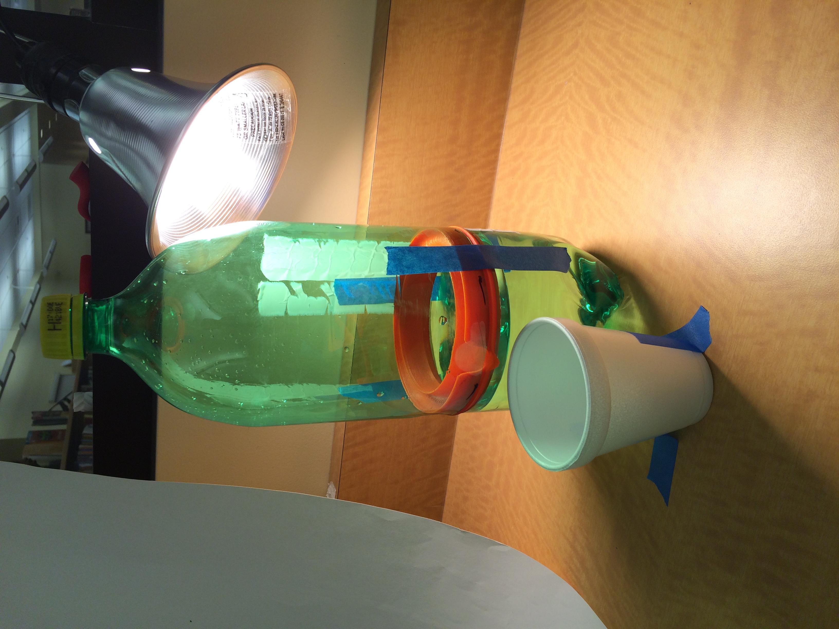 Prototype assembled in 2 liter bottle.