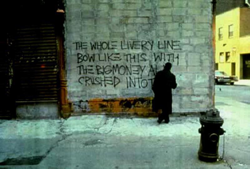 Jean-Michel Basquiat at work