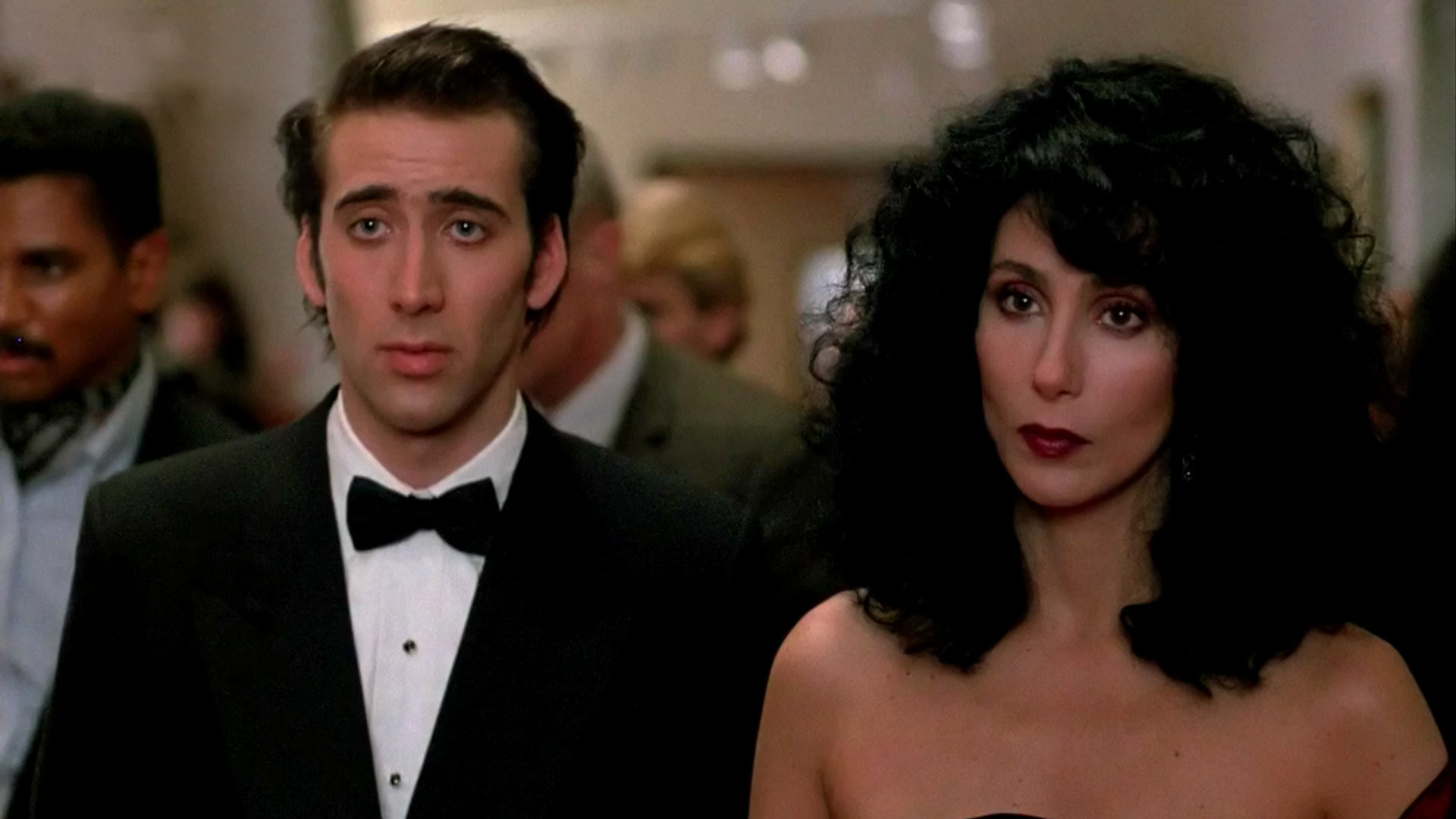 """Nicolas Cage and Cher in """"Moonstruck"""""""