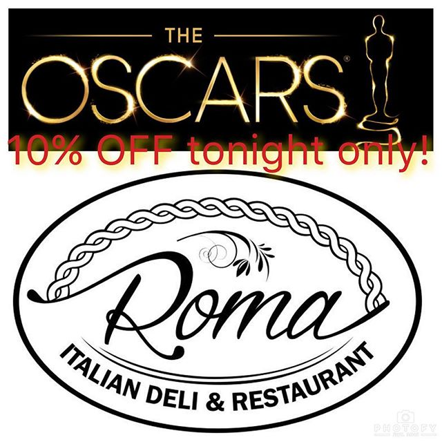 Join us tonight for the Oscars! 10% off your order when you mention this ad. For take-out call 805-499-2455!