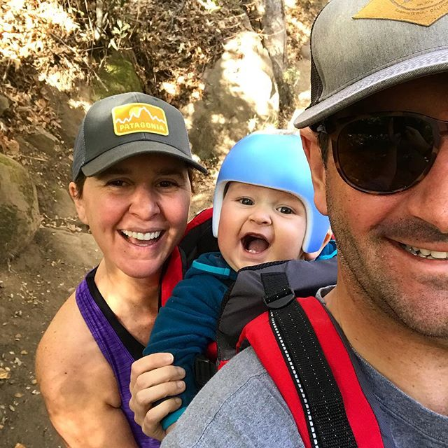 First family hike. Henry is ready for the Eastern Sierra next! #seesb #getoutside