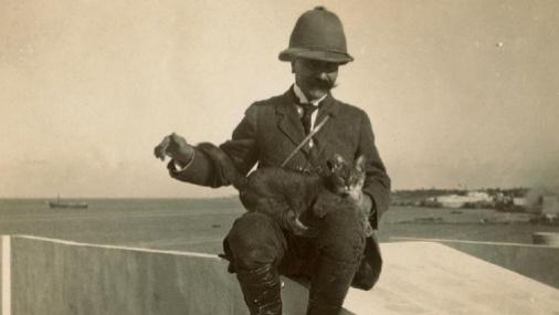 Gaston Chérau arrivant en Libye ©Collection privée