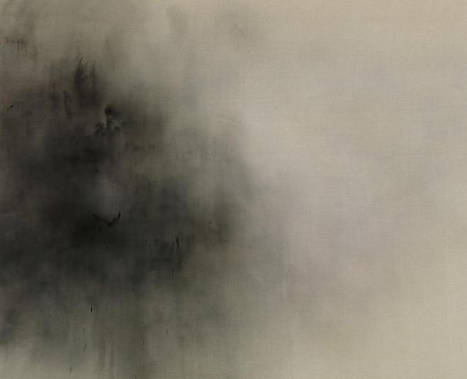 Michael Biberstein ,  Cedars,  2008 Acrylique sur toile — 260 ×320 cm Courtesy Jeanne Bucher Jaeger, Paris — Photo © G. Poncet