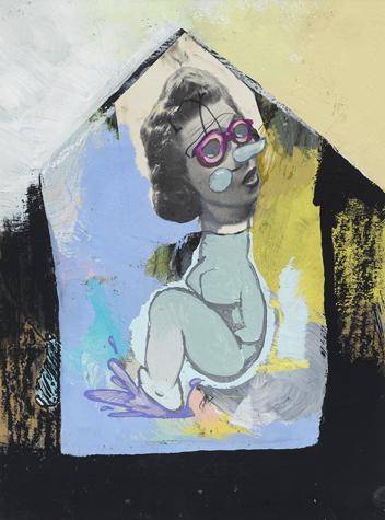 Adam Janes, 2015 technique mixte sur bois, 38,5 x 28,5 cm