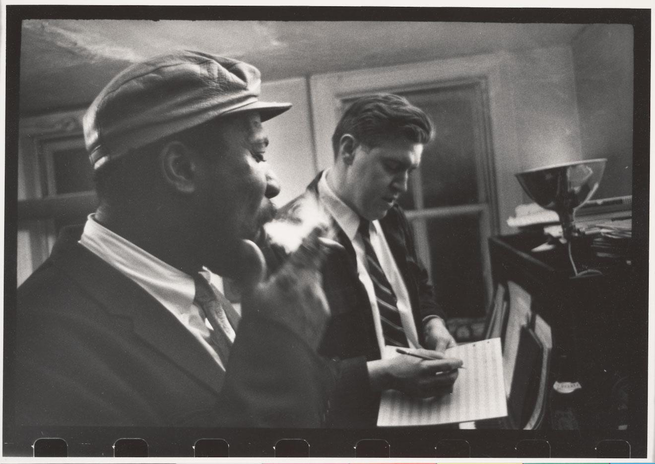 Thelonious Monk et Hall Overton  Photo  W. Eugene Smith.