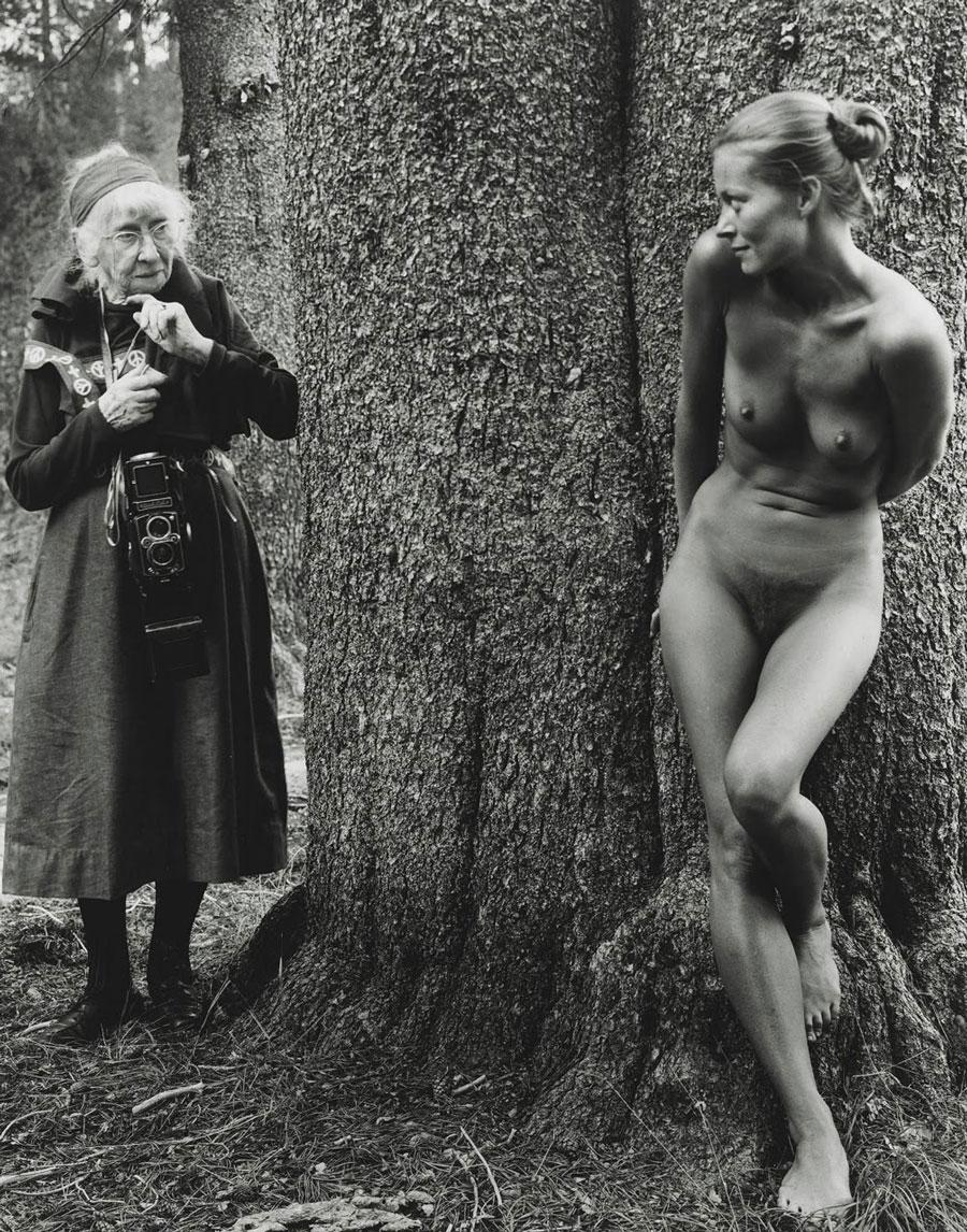 Imogen Cunningham & Twinka Thiebaud by Judy Dater, 1974