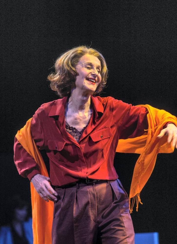 Francine Bergé, dans le rôle de Liliane Bettencourt.
