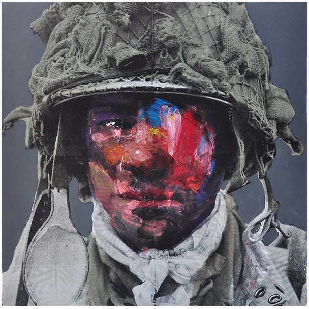 Soldier 1, 2015, Mixed media on canvas, 160x160cm1, 2015, Mixed media on canvas, 160x160cm