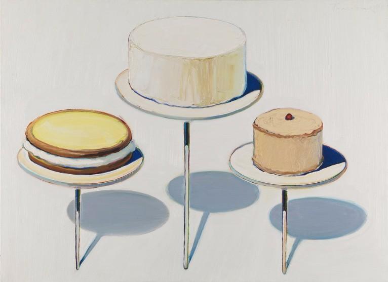 Wayne Thiebaud   Display Cakes   1963