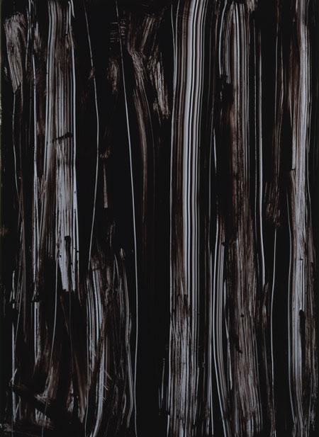 Imi Knoebel : Schwarze Acryglaszeichung No 10, 1991. laque acrylique, 206 cm x 149. Courtesy galerie Thaddaus Ropac / Caroline Smulders