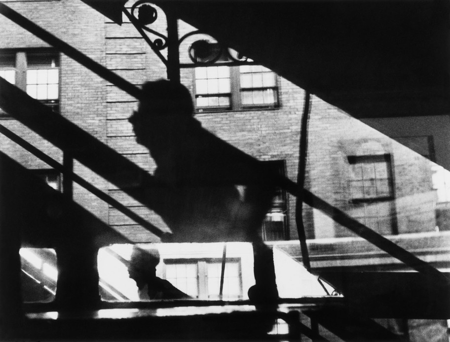 Louis Faurer,   Win, Place and Show  , métro aérien de la 3e Avenue à la 53e rue, New York, c 1946-1948