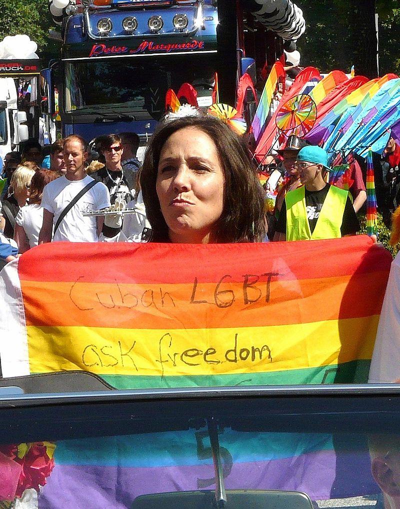 Mariela Castro à la Gay Pride de Hambourg, en 2010