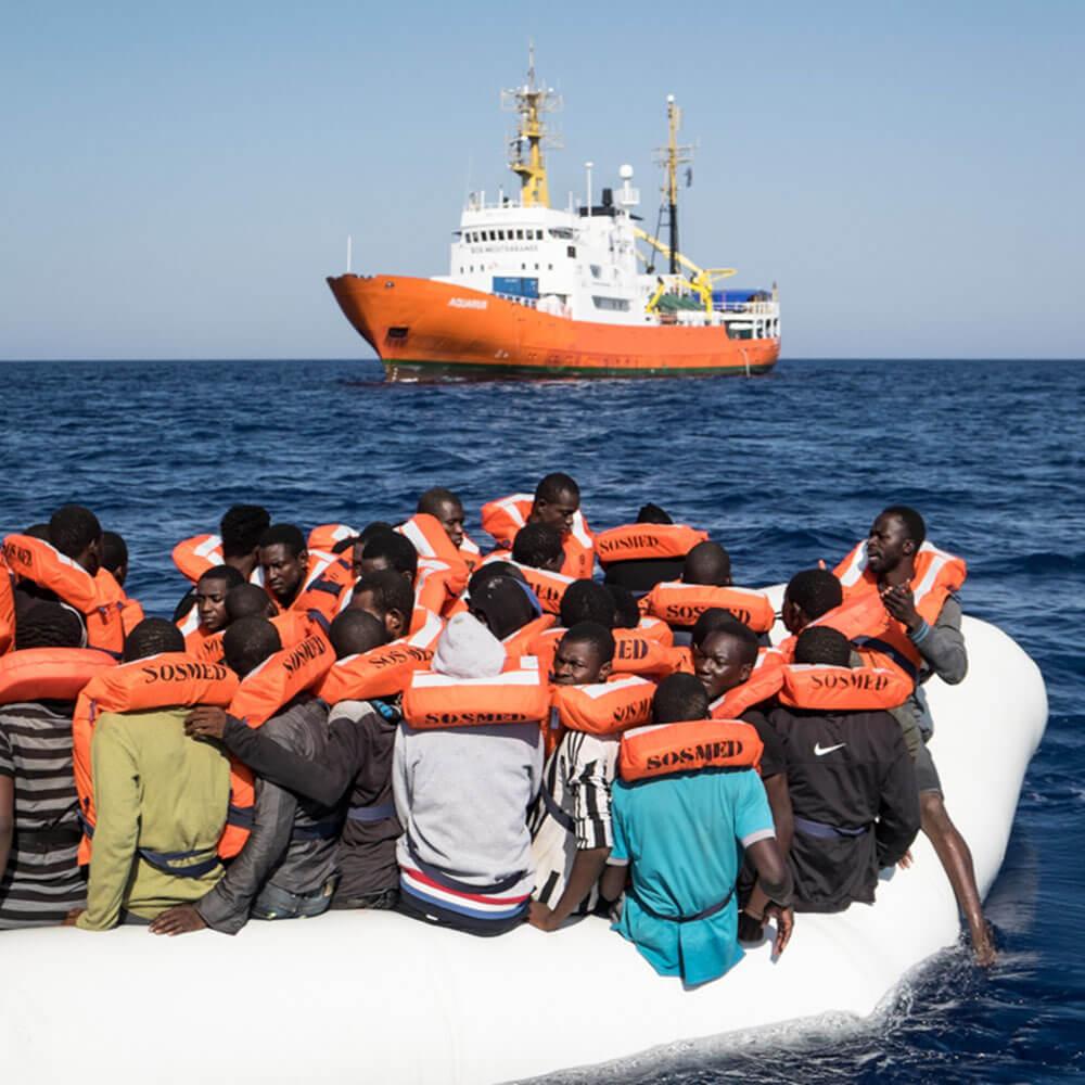 L'Aquarius, le bateau de SOS Méditerranée. Photo Marco Panzetti
