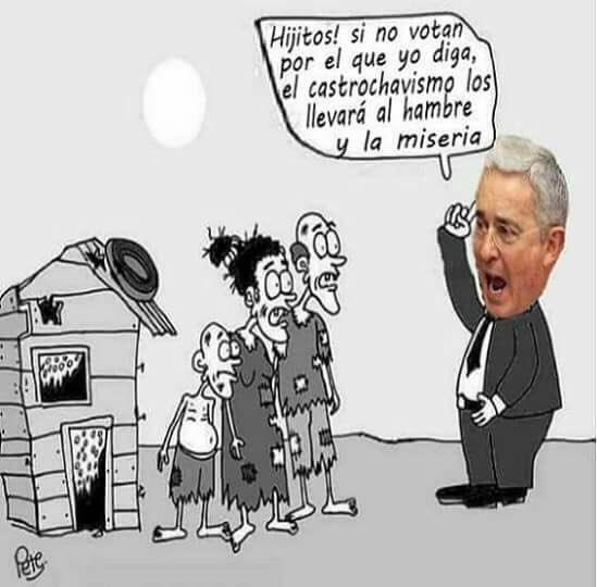 """Uribe : """"Mes enfants, si vous ne votez pas pour qui je vous dis, le castrochavisme vous mettra dans la faim et la misère"""""""