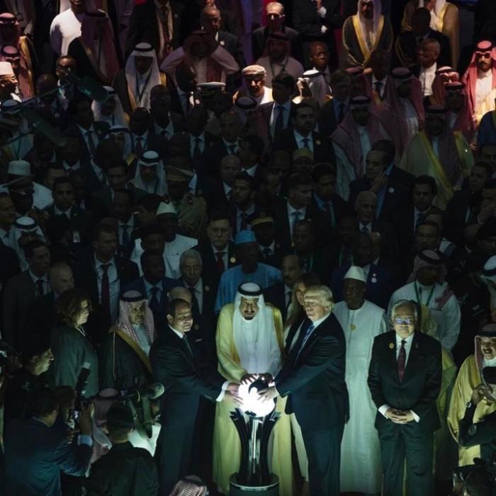 Al Sissi avec Trump et le roi Salman...
