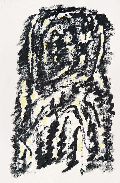 Henri Michaux, Sans Titre, 1973 ,  Acrylique sur papierArches —56 ×37,5 cm © Henri Michaux Succession / Courtesy Galerie Lelong & Co. Paris