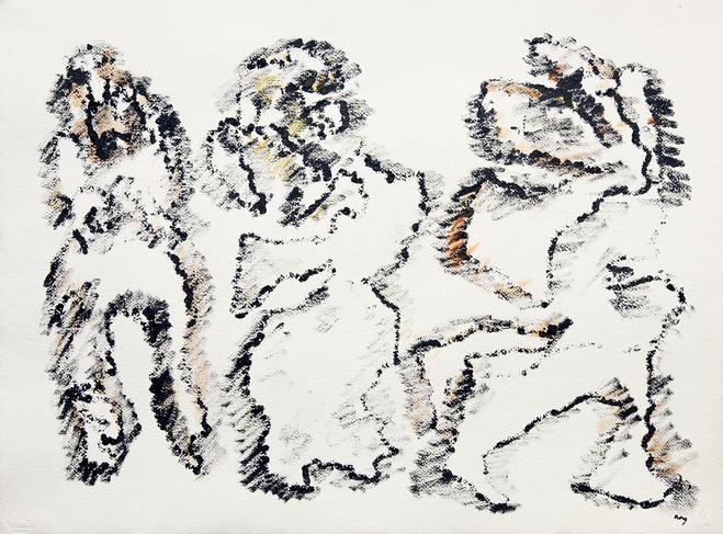 Henri Michaux, Sans Titre, 1967 , 0 Acrylique sur papier Arches —56 ×76 cm© Henri Michaux Succession / Courtesy Galerie Lelong & Co. Paris