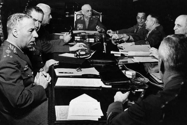 Réunion de chefs de l'armée brésilienne à Rio de Janeiro en 1969. Photo Associated Press