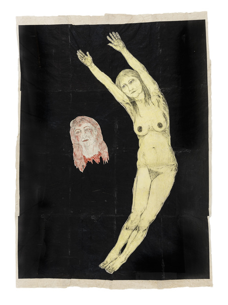Kiki Smith,  Eclipse , 2002 ( encre et gouache sur papier )  245 x 174cm © Kiki Smith