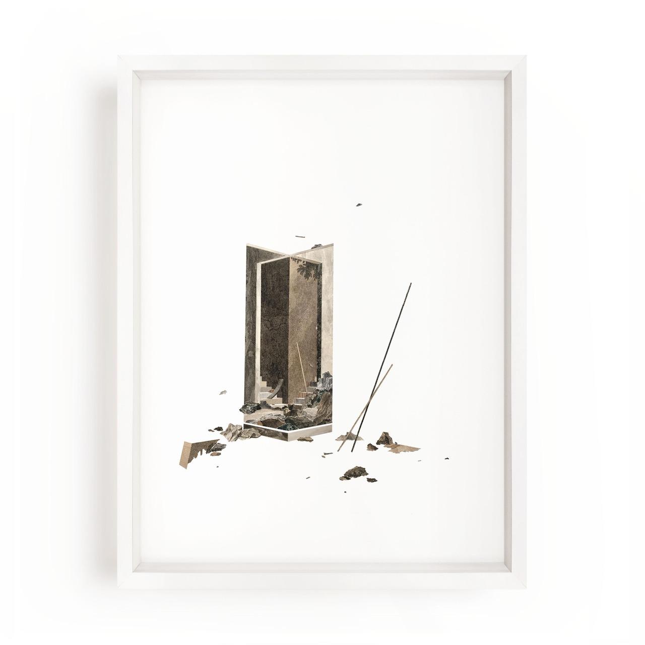 Claire Trotignon   Infini de taille moyenne  Collage of engraving 30 x 40 cm - 2018 - Private collection