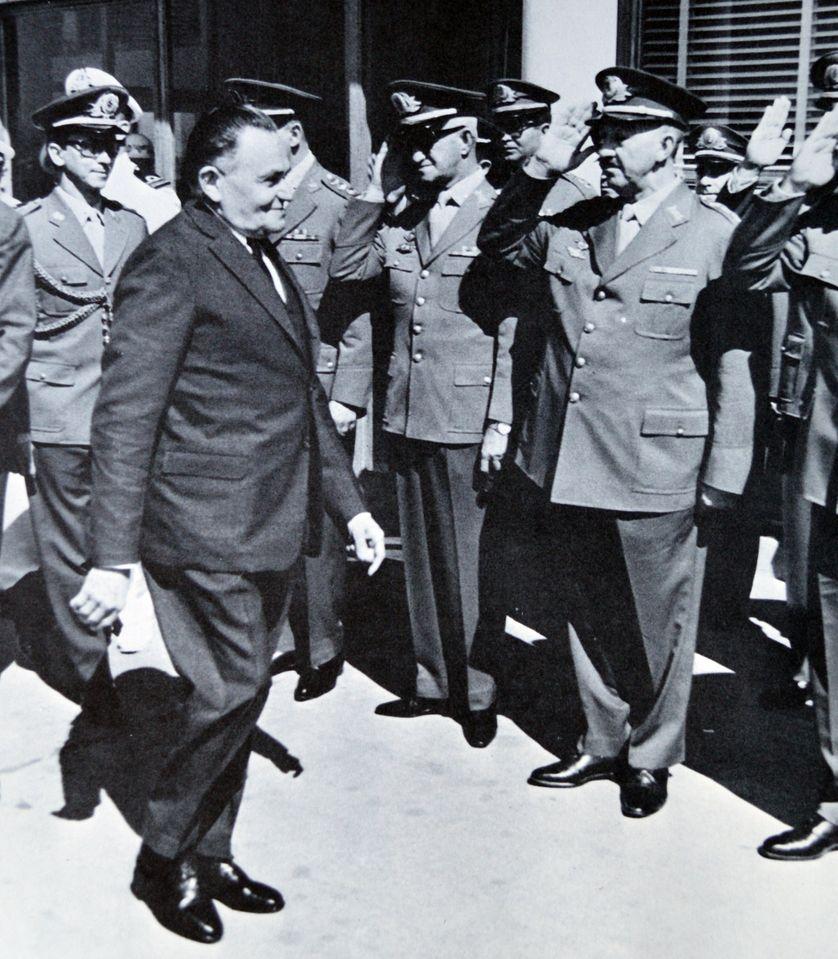 Le maréchal Castelo Branco (1897-1967), président du Brésil après le coup d'état militaire qui a renversé le président élu Joao Goulart.
