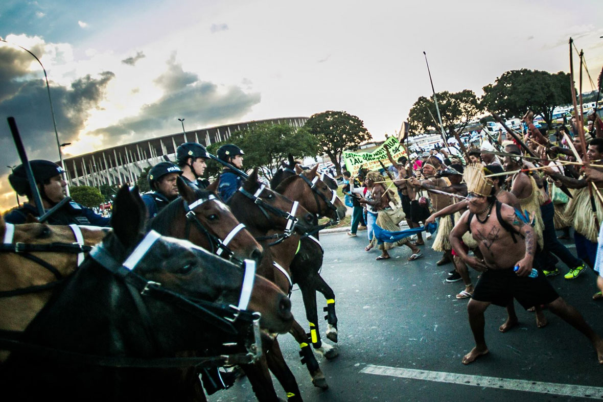 Manifestation à Brasilia. Photo Midia Ninja.