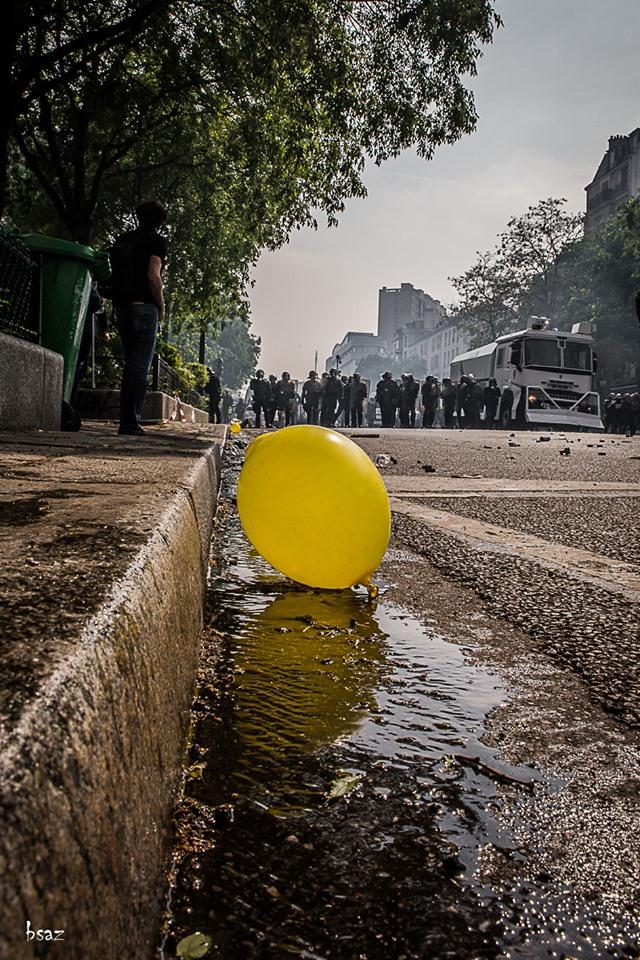 Paris. Premier mai 2019.  Photo Bsaz