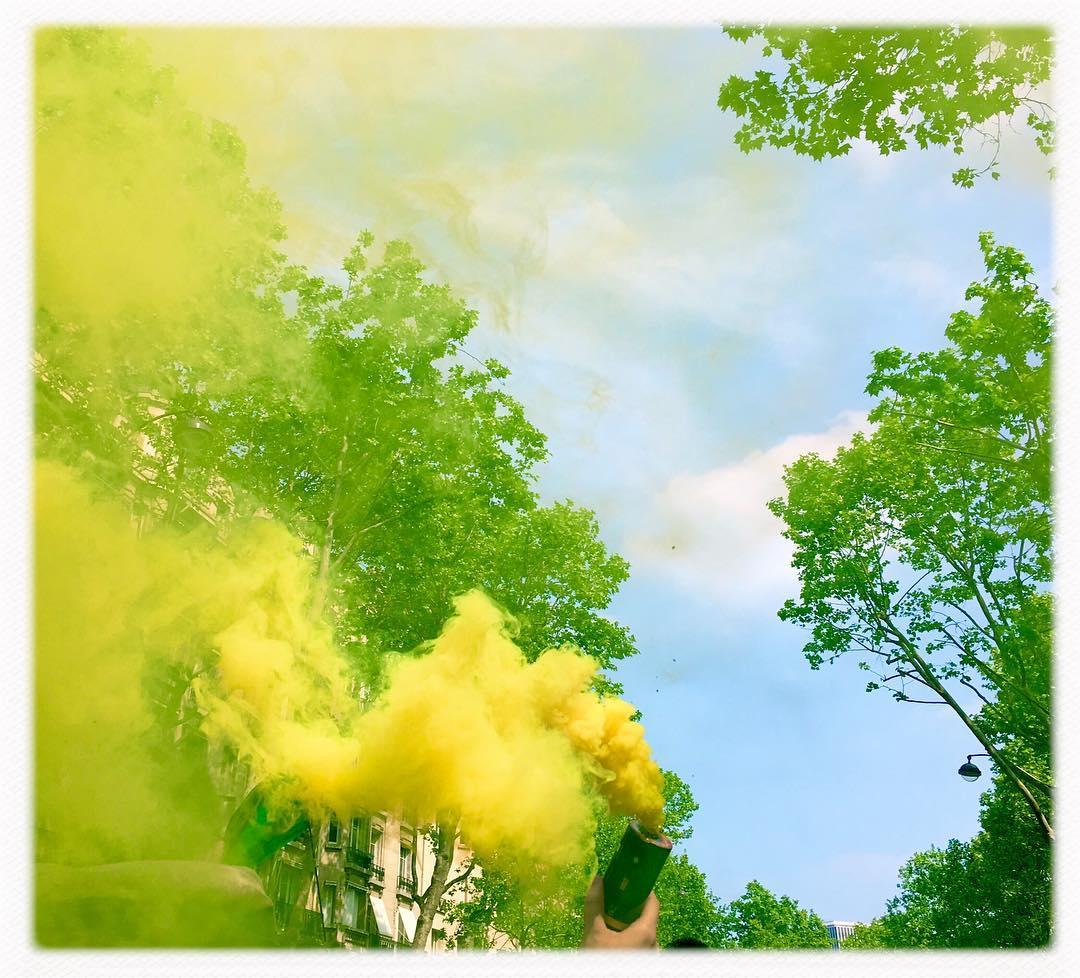 Premier mai, étude en jaune. Par Pascal Dolémieux
