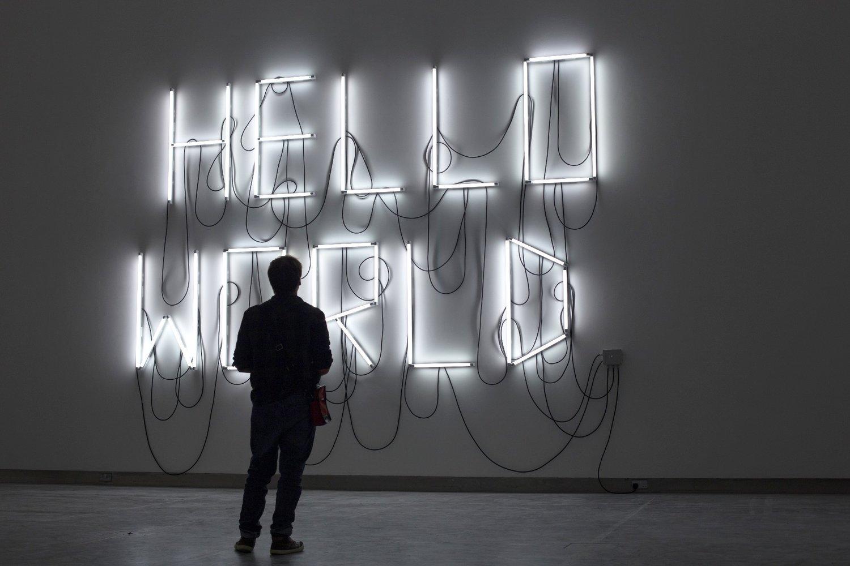 Fabien Léaustic  ,   HELLO WORLD,  2016, sélectionnée par Dominique Moulon